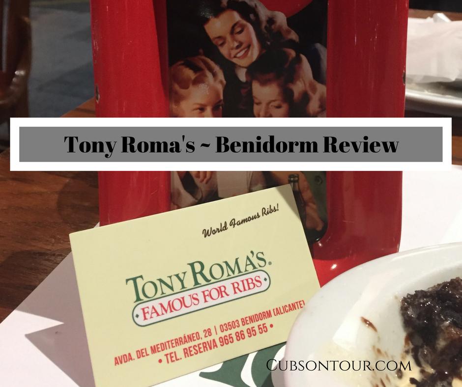 Tony Roma's ~ Benidorm Review