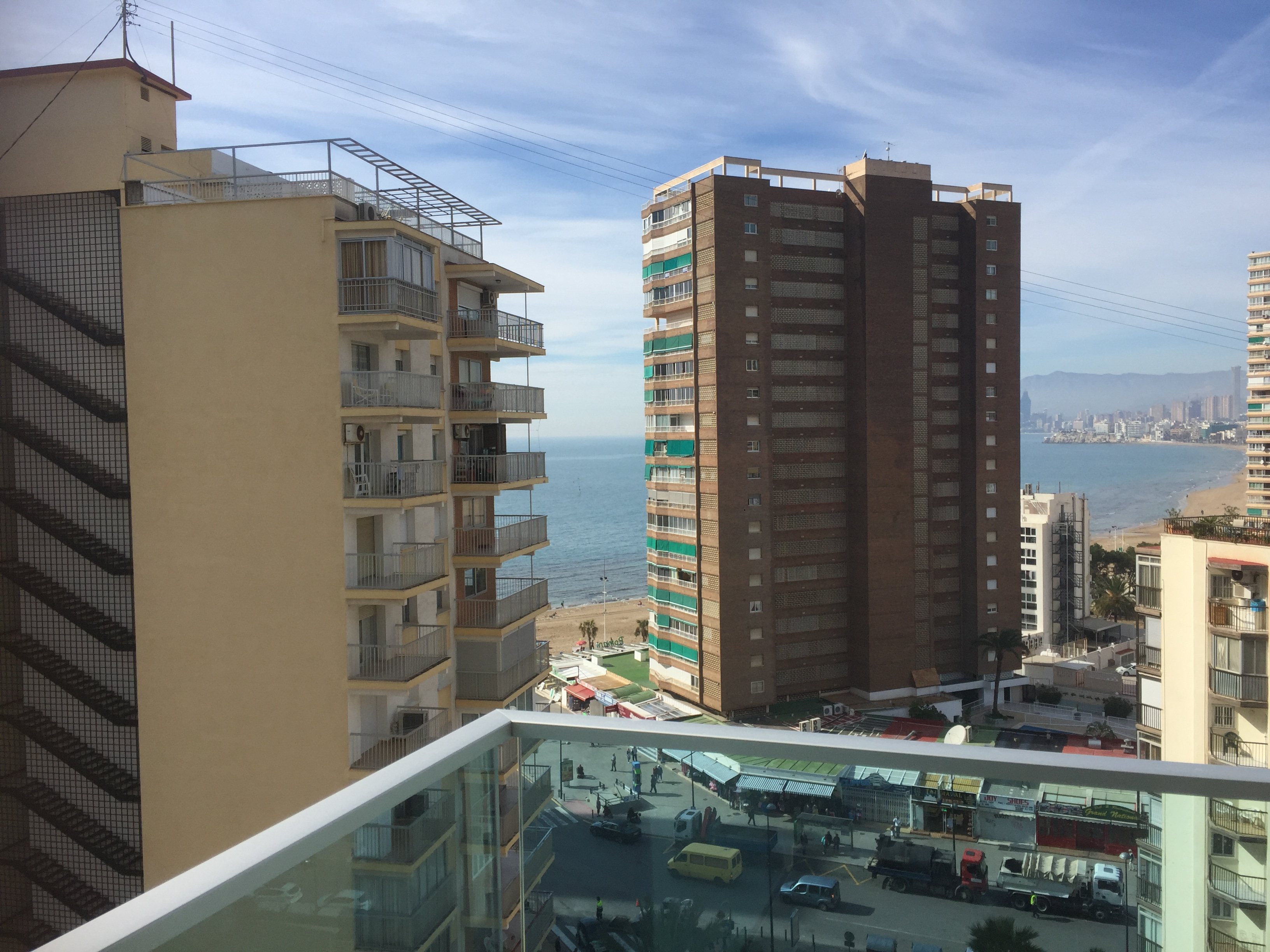 View from balcony port benidorm hotel