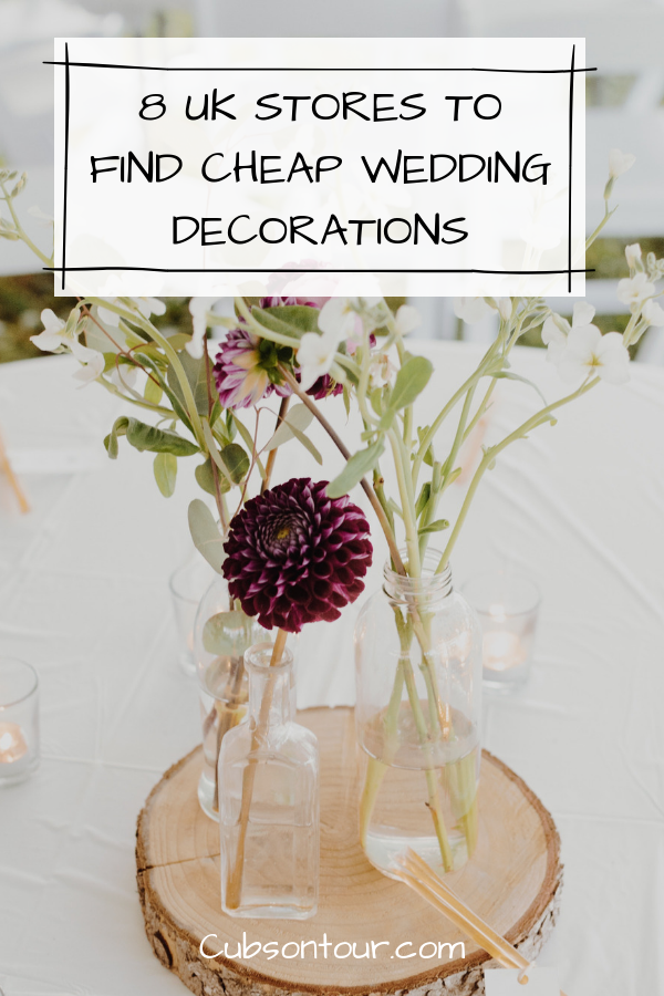 8 UK Stores To Find Cheap Wedding Decorations. Cheap wedding ideas.