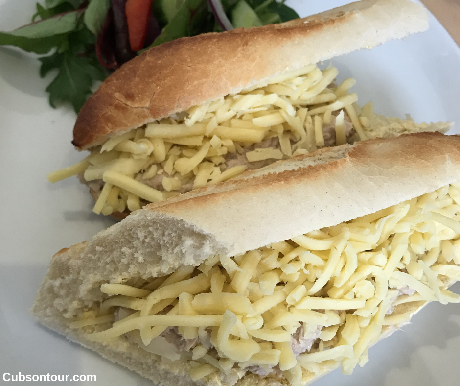 Kelly's Kitchen Christchurh Cafe Review, tuna baguette
