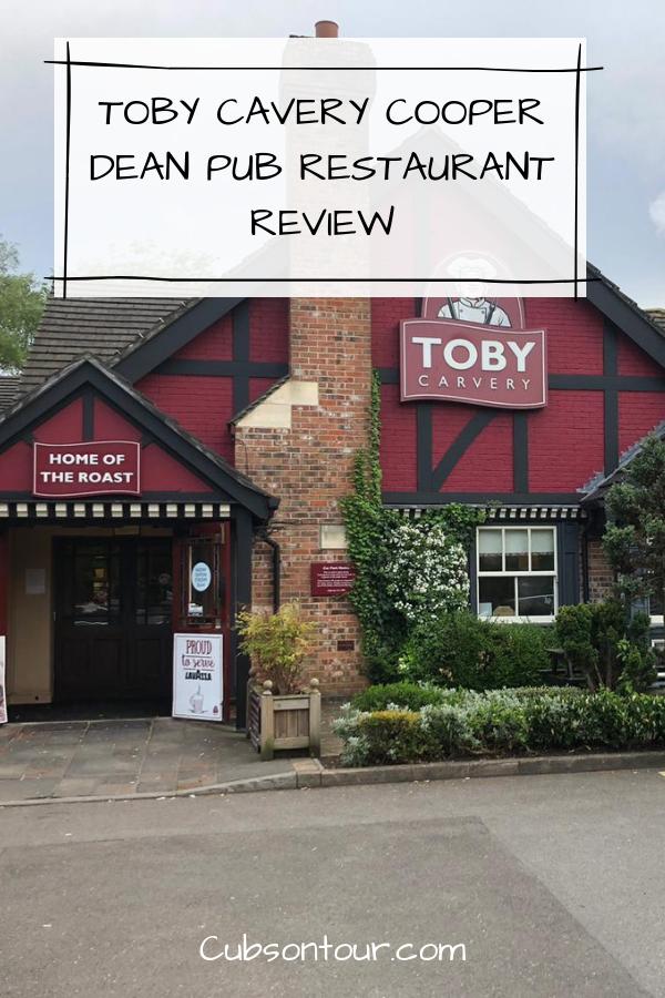 Toby Cavery Cooper Dean Pub Restaurant Review