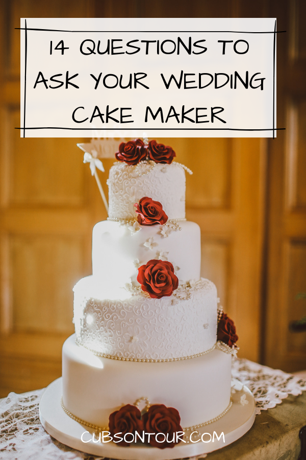 14 Question To Ask Your Wedding Cake Maker