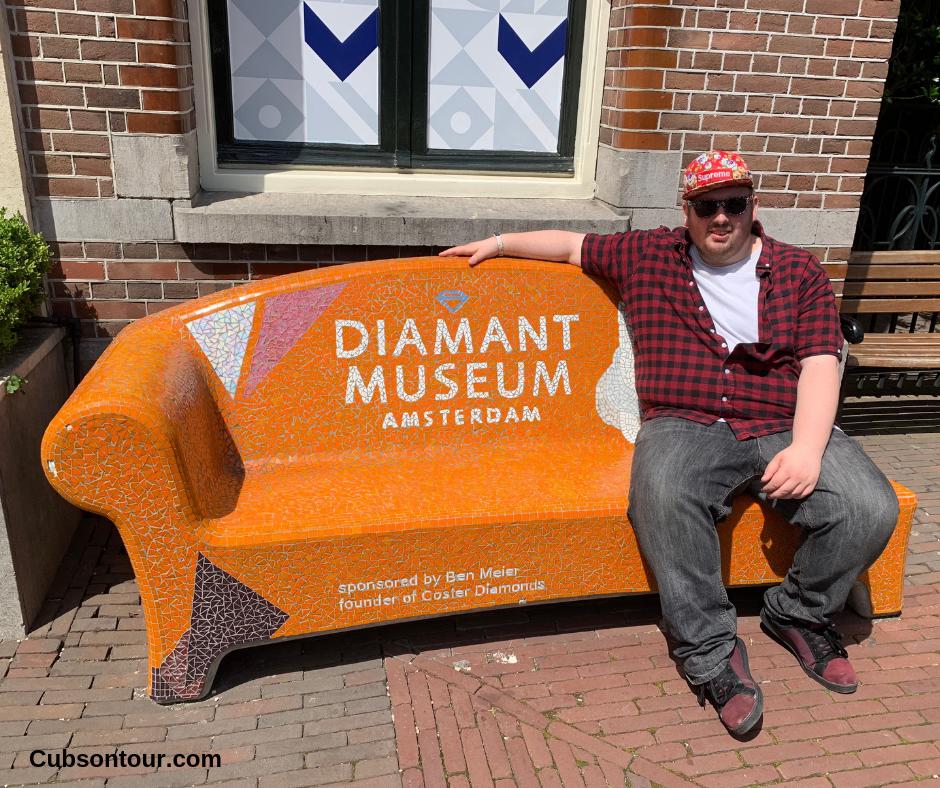 Diamant Museum, Diamond Museum Amsterdam. Diamant museum bench