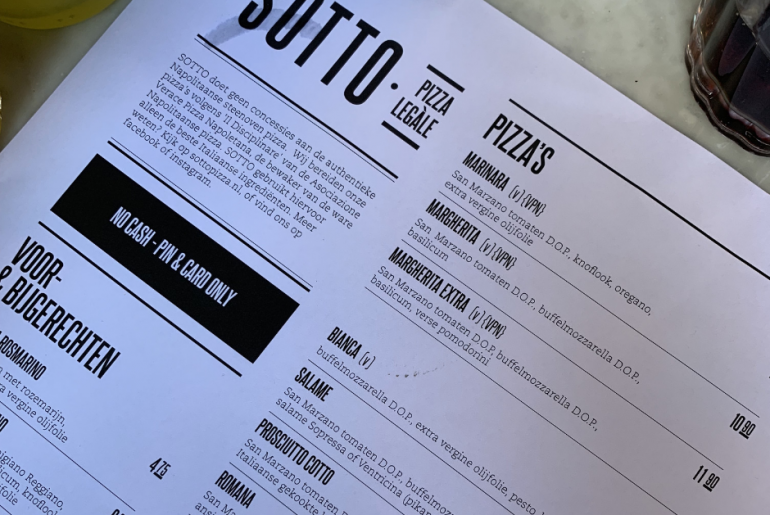 Sotto Amsterdam Pizza Restaurant Review