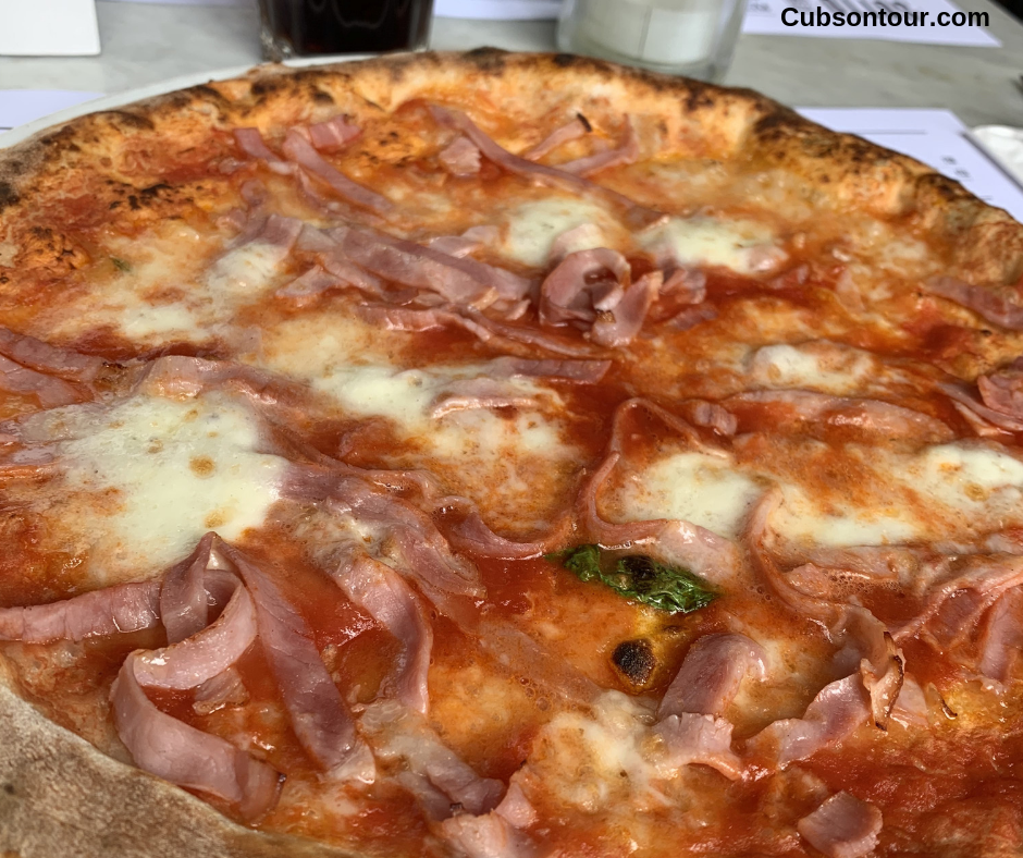 Sotto Amsterdam Pizza Restaurant Review Prosciutto Cotto Pizza