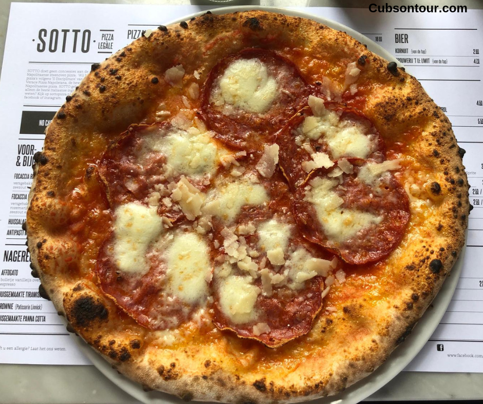 Sotto Amsterdam Pizza Restaurant Review Salame Pizza