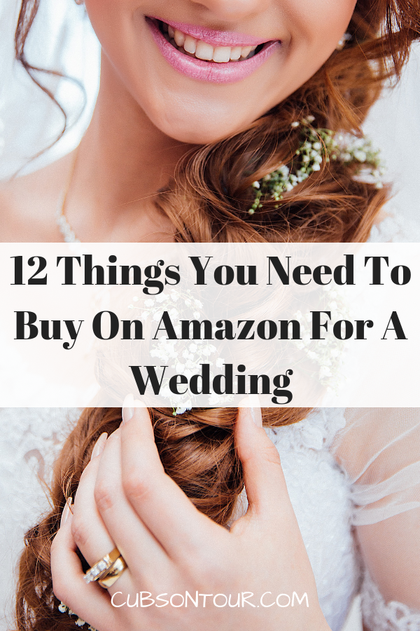 12 things you need to buy on amazon for a wedding! #wedding #frugalwedding #cheapwedding #budgetwedding #weddingitems #weddinginvites #weddinggifts