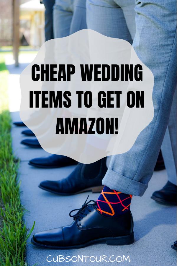 Cheap Wedding Items To Get On Amazon #wedding #frugalwedding #cheapwedding #budgetwedding #weddingitems #weddinginvites #weddinggifts